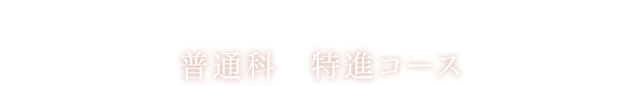 Special advance course 普通科 特進コース